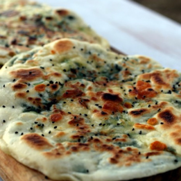 Cheese Spinach Naan